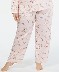 Polyester Satin Plus Size Pajama Pants, Created for Macy's
