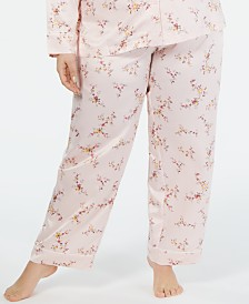 Charter Club Polyester Satin Plus Size Pajama Pants, Created for Macy's