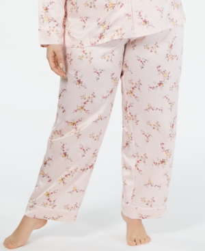 Charter Club Polyester Satin Plus Pajama Pants, Created for Macy's