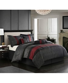 Corell Black 7-Piece California King Comforter Set