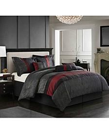 Corell Black 7-Piece King Comforter Set