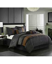 Corell Bronze 7-Piece California King Comforter Set