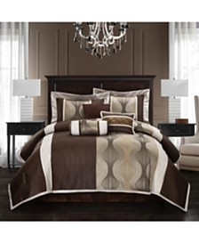 Kath 7-Piece Comforter Set, Brown, California King