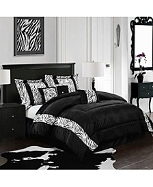 Mali 7-Piece Comforter Set, Black, King