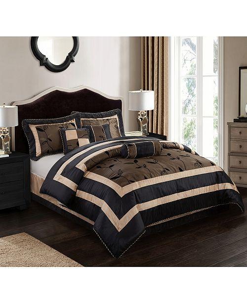Nanshing Pastora 7-Piece Comforter Set Silver, Silver, California King