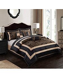 Pastora 7-Piece Comforter Set Silver, Silver, Full