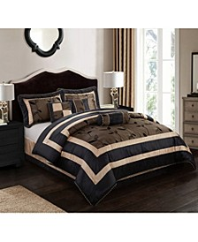 Pastora 7-Piece Comforter Set Silver, Silver, Queen