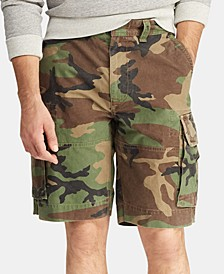 "Men's Big & Tall Relaxed Fit 10"" Camouflage Cotton Cargo Shorts"