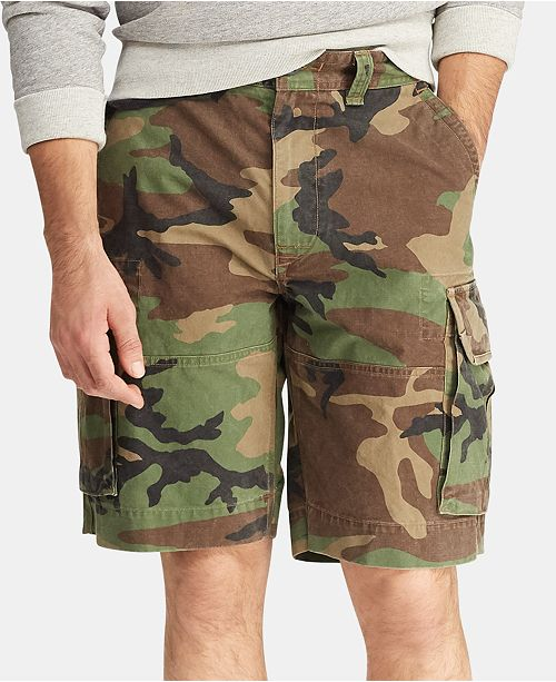 Polo Ralph Lauren Men's Big & Tall Relaxed Fit Camouflage Cotton Cargo Shorts