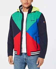 Tommy Hilfiger Men's Gunwhale Colorblocked Hooded Yacht Jacket, Created for Macy's