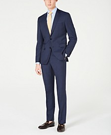 HUGO Men's Slim-Fit Mini-Check Suit Separates