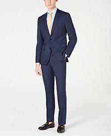 HUGO Men's Slim-Fit Mini-Check Suit Separates