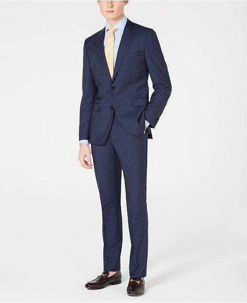 Hugo Boss HUGO Men's Slim-Fit Mini-Check Suit Separates