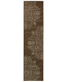"""CLOSEOUT!  Adrienne 4174D Brown/Stone 1'10"""" x 7'6"""" Runner Area Rug"""