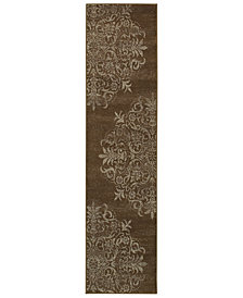 "Oriental Weavers Adrienne 4174D Brown/Stone 1'10"" x 7'6"" Runner Area Rug"
