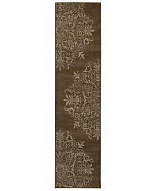 "CLOSEOUT! Oriental Weavers  Adrienne 4174D Brown/Stone 1'10"" x 7'6"" Runner Area Rug"