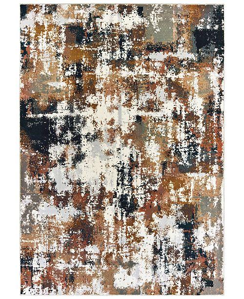 """Oriental Weavers Bowen 4928X Gray/Gold 3'10"""" x 5'5"""" Area Rug"""