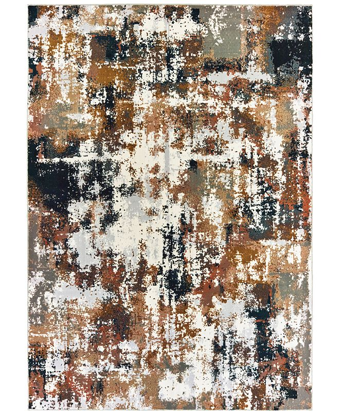 "Oriental Weavers Bowen 4928X Gray/Gold 7'10"" x 10'10"" Area Rug"