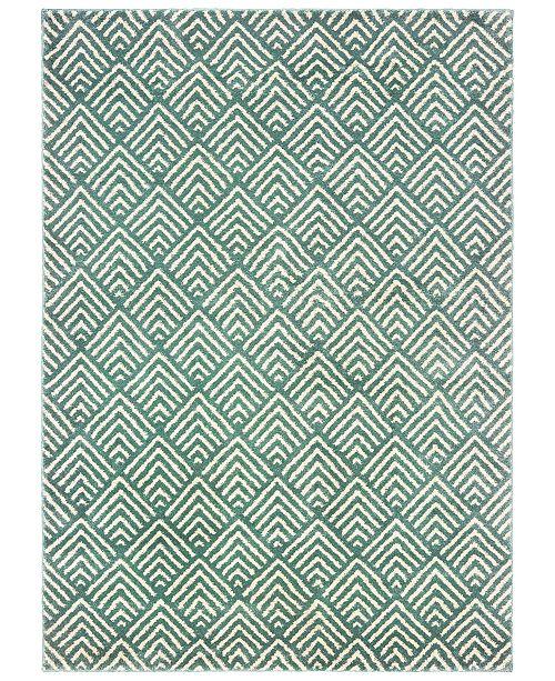 Oriental Weavers Carson 9667C Blue/Ivory 2' x 3' Area Rug