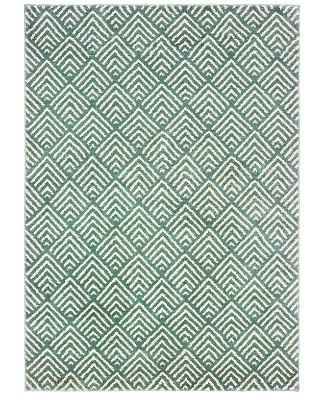 "Oriental Weavers Carson 9667C Blue/Ivory 2'3"" x 7'6"" Runner Area Rug"