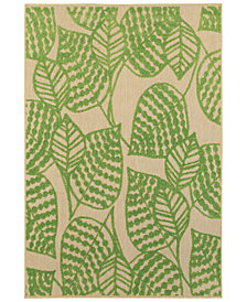 "Oriental Weavers Cayman 566F9 Sand/Green 6'7"" x 9'6"" Indoor/Outdoor Area Rug"