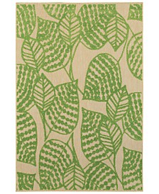 "Oriental Weavers Cayman 566F9 Sand/Green 1'10"" x 3'3"" Indoor/Outdoor Area Rug"