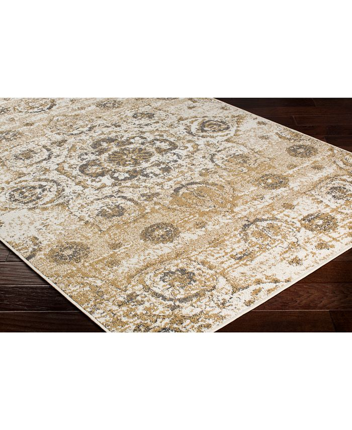 """Abbie & Allie Rugs - Seville SEV-2327 Tan 18"""" Square Swatch"""