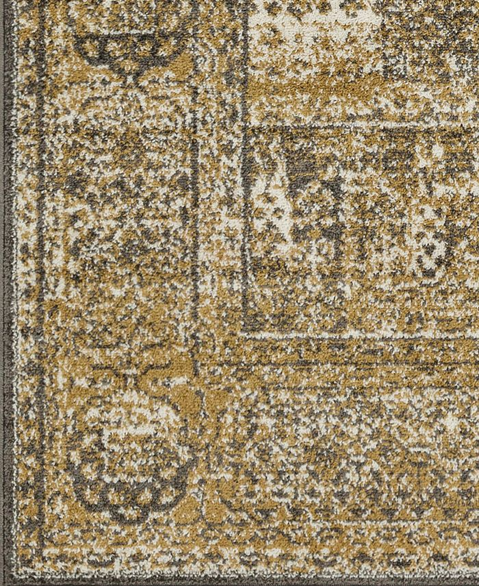 """Abbie & Allie Rugs - Seville SEV-2328 Tan 18"""" Square Swatch"""