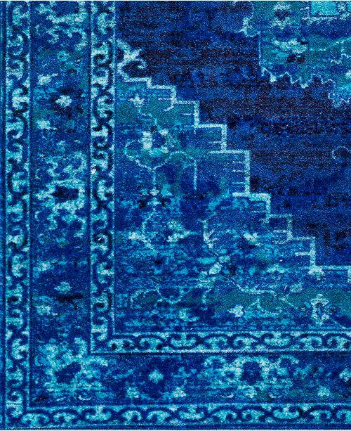 "Surya Silk Road SKR-2318 Bright Blue 18"" Square Swatch"