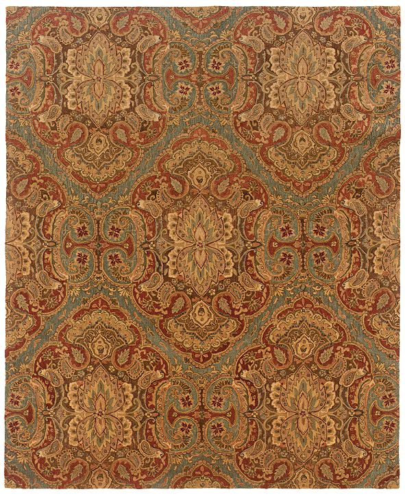 "Oriental Weavers Huntley 19101 Blue/Rust 8'3"" x 11'3"" Area Rug"