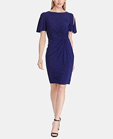 Lauren Ralph Lauren Petite Twisted-Knot Dress