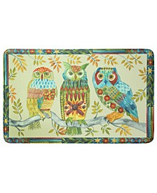 "Embroidery Owls Memory Foam Rectangle 22""x35"" Accent Rug"