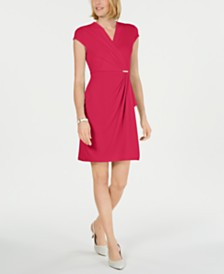 Charter Club Petite Surplice Wrap Dress, Created for Macy's