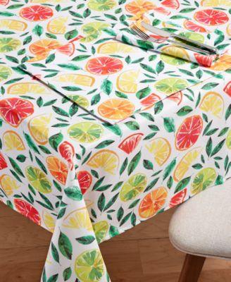 "Citrus Bliss 60"" x 84"" Tablecloth"