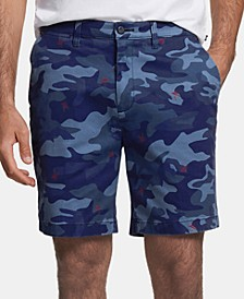 "Men's Blue Sail Camo 8 1/2"" Shorts, Created for Macy's"