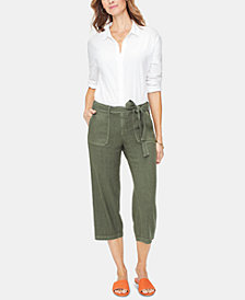 NYDJ Tummy-Control Cropped Cargo Pants