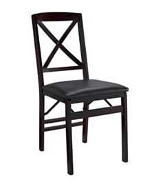 Triena X-Back Folding Chair Set of 2