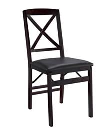 Triena X-Back Folding Chair Set of 2