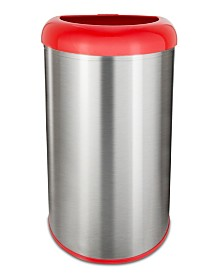 Nine Stars 13.2 Gallon Open Top Trash Can with Red Lid