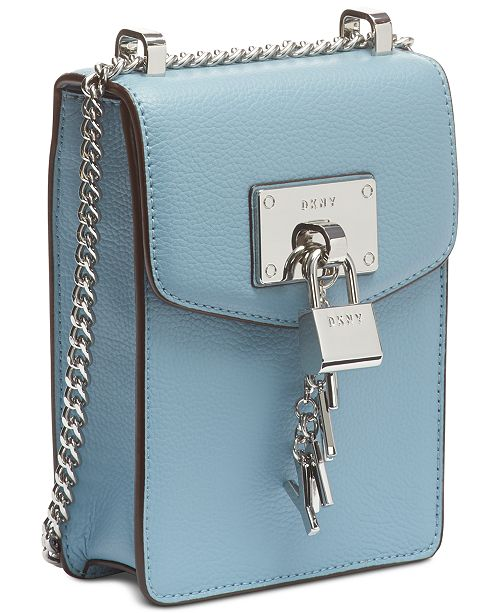 189db80be ... DKNY Elissa Pebble Leather Charm Chain Strap Crossbody, Created for  Macy's ...