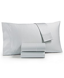 Textured Prism Cotton 525-Thread Count 4-Pc. King Sheet Set, Created for Macy's