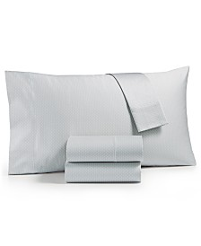 Hotel Collection Textured Prism Cotton 525-Thread Count 4-Pc. Queen Sheet Set, Created for Macy's