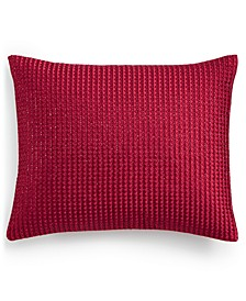 "Red Luxe Border 16"" x 20"" Decorative Pillow, Created for Macy's"