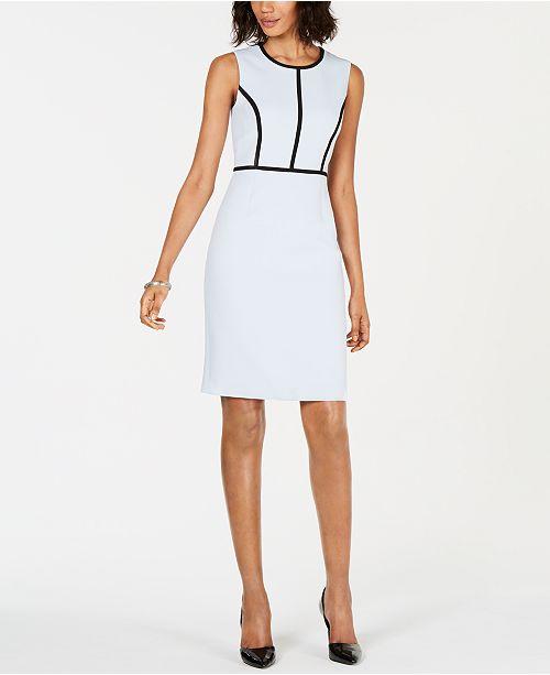 f3b926ad Kasper Petite Contrast-Piping Sheath Dress & Reviews - Wear to Work ...