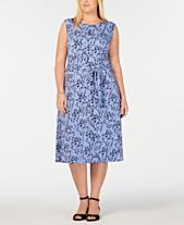 9967b9e768d Charter Club Plus Size Floral-Print Midi Dress