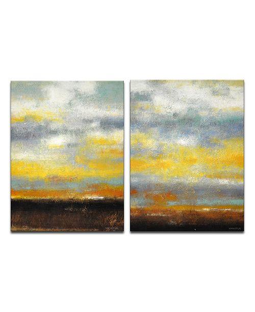 "Ready2HangArt 'Brushed Sunset I/II' 2 Piece Canvas Wall Art Set, 30x20"""
