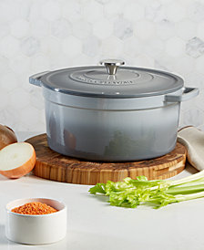 Martha Stewart Collection Enameled Cast Iron Round 8-Qt. Dutch Oven, Created for Macy's