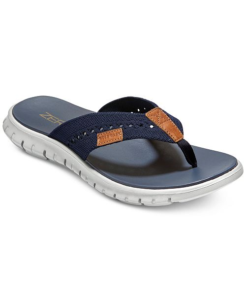 7a7c992d306a Cole Haan Men s ZeroGrand Stitchlite Thong Sandals   Reviews - All ...