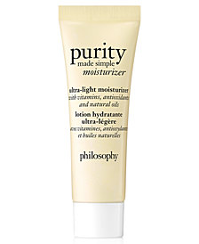 Receive a Free Purity Ultra-light Moisturizer with any $35 philosophy purchase