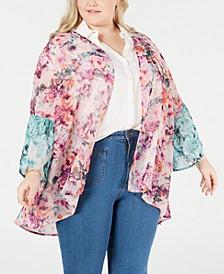 Plus Size Printed Kimono, Created for Macy's
